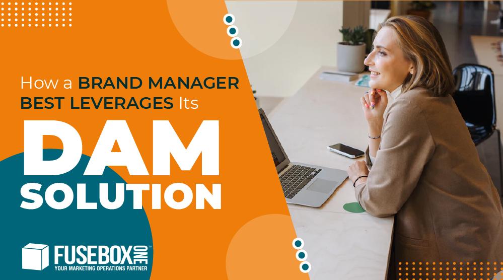 Brand Manager working in her digital asset management system
